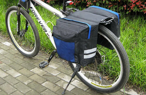 Bicycle Carrier Bag Rear Rack Bike Trunk Luggage Pannier Seat Double Cycling $29.00