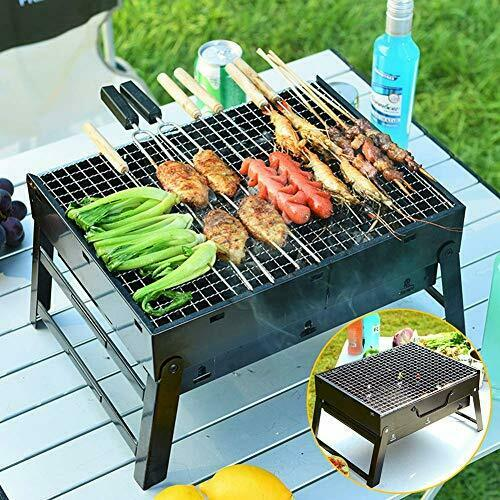 Achort Charcoal Barbeque Grill Portable BBQ Stainless Steel Outdoor Grill Fol...