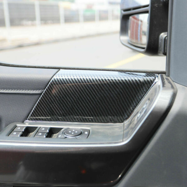 Carbon Grain Front Right Left Door Panel Overlay Cover Trim For 2021 Ford F150 $28.89