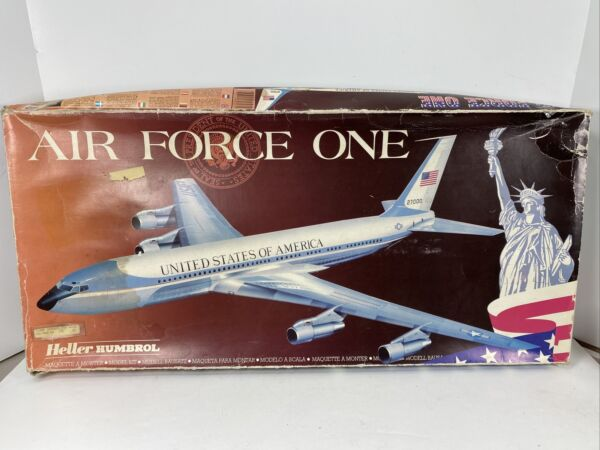 Heller AIR FORCE ONE Boeing 707 1 72 Scale kit #80307 Complete