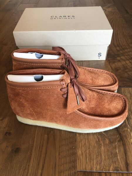 MENS CLARKS ORIGINAL WALLABEE LIMITED EDITION TAN HAIRY SUEDE LEATHER Size 11