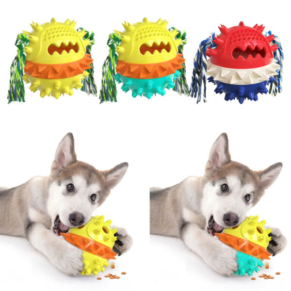 Pet Dog Tough Chew Toys Aggressive Chewers Ball Rope Teeth Cleaning Toy $16.53