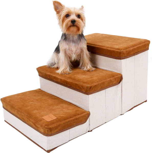 Dog Stairs Foldable Pet Stairs Three Steps On The Bed Sofa Indoor $55.03