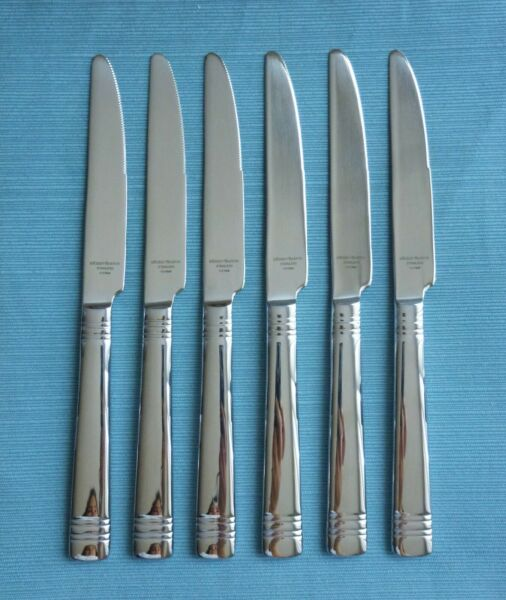 New Reed amp; Barton LONGWOOD II Set of 6 Dinner Knives 18 10 Stainless Flatware $22.00