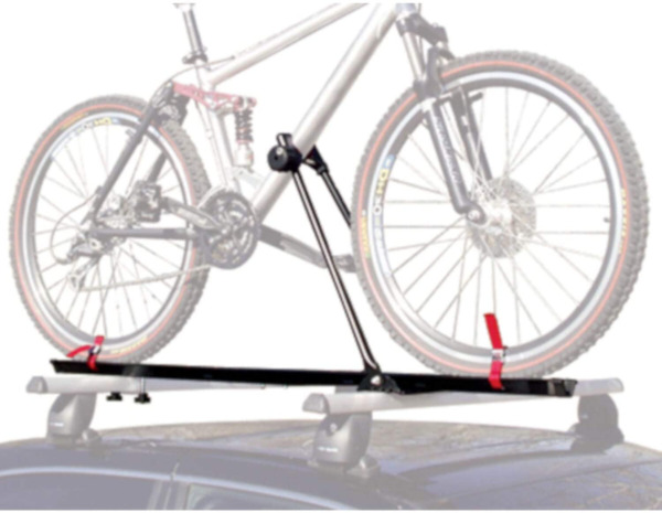 Bike Rack for Car Roof Universal Upright Single Lockable Bicycle Carrier Trailer $61.79