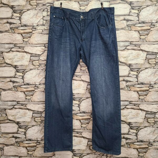Reward Mens Jeans Size 40 33quot; Dark Wash Pockets 100% Cotton Whiskers Embroidered $24.88