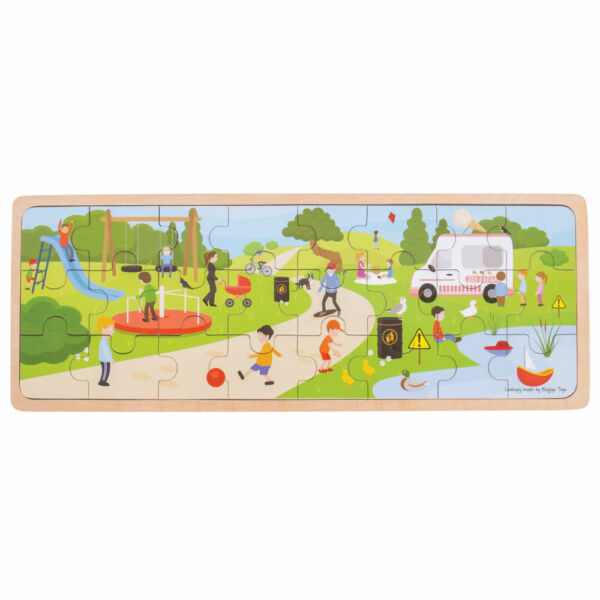 Bigjigs Toys Wooden In The Park Tray Chunky Jigsaw Puzzle C $23.98