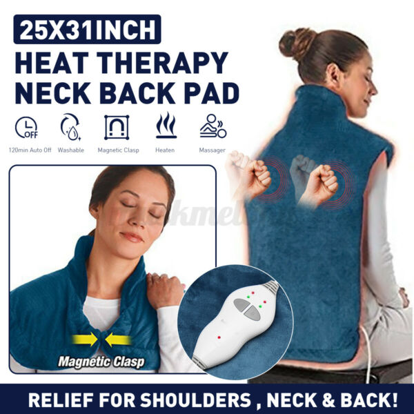 150W Heating Pad for Neck amp; Shoulder Pain Relief 2 Heat Settings Extra Long $36.89