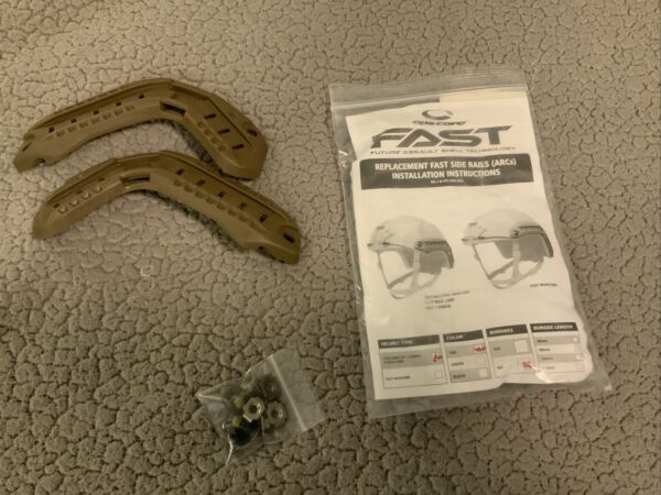 Ops Core Replacement ARC Rails For FAST Carbon And Bump Helmet Brown REV 2 $19.99