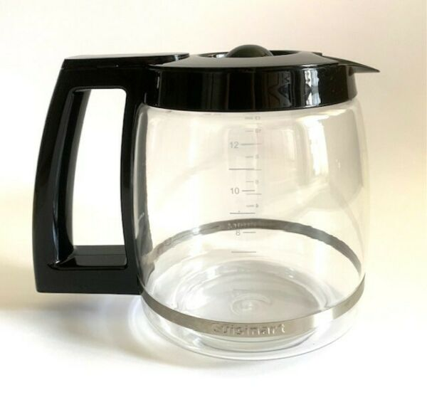 Coffee Cuisinart Carafe 12 Cup Replacement Glass Black DCC1200 orDGB 500BK