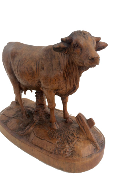 Black Forest wooden carved Cow Cattle brienz ca. 1900