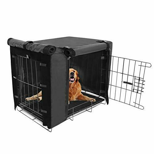 Durable Dog Crate Cover Double Door for Large pet Cover 36quot;Lx23quot;Wx25quot;H Black $39.99