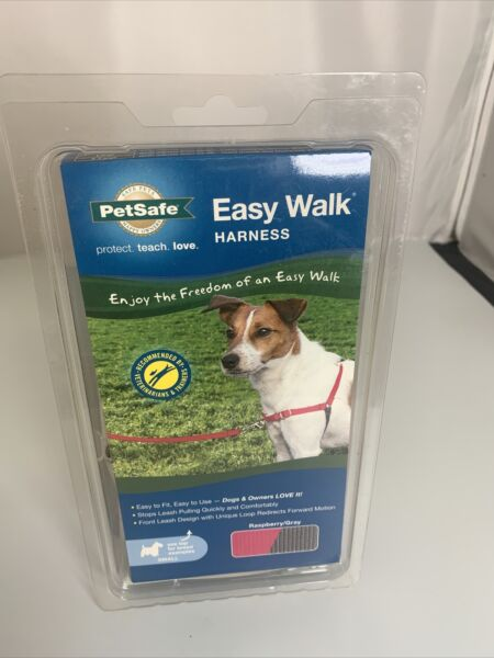 PetSafe EasyWalk Easy Walk Harness Dog No Pull Raspberry and Gray Small New $11.75
