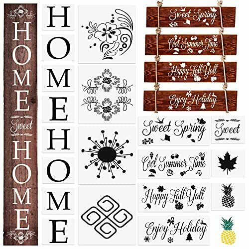 19PCS Large Size Home Sign Stencils Set for Painting on Wood Vertical Home $9.69