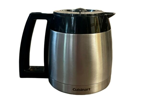 Cuisinart Replacement 10 Cup Thermal Coffee Pot Carafe Stainless Steel