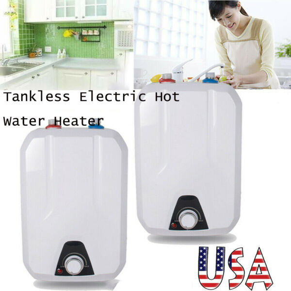 🔥2PCS 110V 8L Electric Tankless Hot Water Heater Kitchen Bathroom Home55℃ 75℃🔥 $151.99