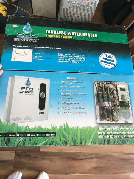 EcoSmart 27 kW Self Modulating Electric Tankless Water Heater New In Box $220.00