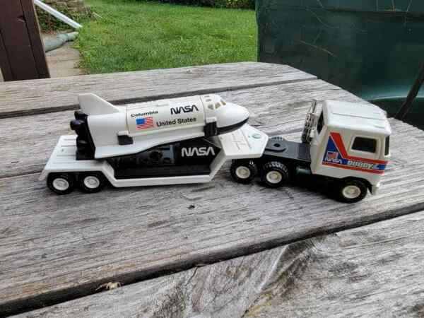 Vintage Buddy L NASA Truck Trailer and Space Shuttle Great Shape $19.95