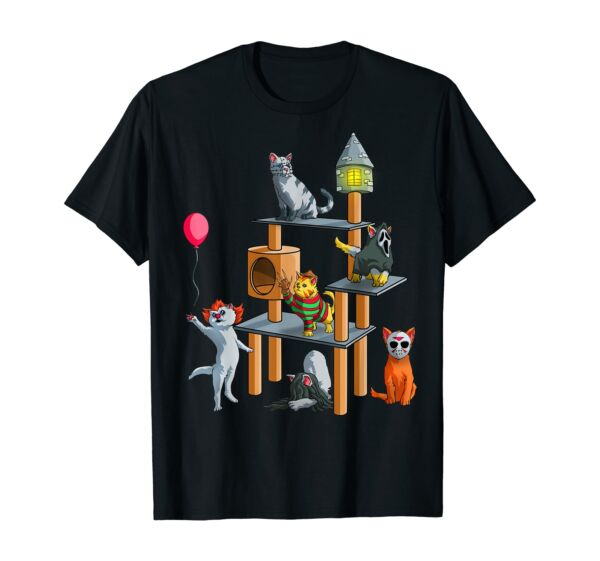 Funny Cat Cute Halloween for Cat Kitty Lovers T Shirt $10.99