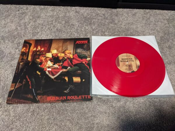 Russian Roulette by Accept red LP heavy metal