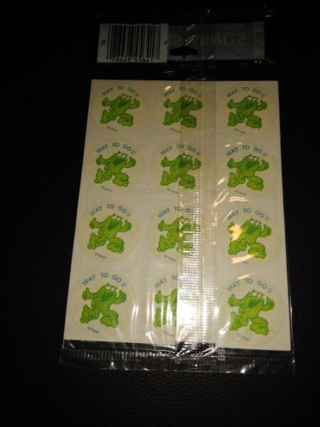 1980s Trend Scratch #x27;n Sniff Stinky Stickers Way to Go and That A Way sealed