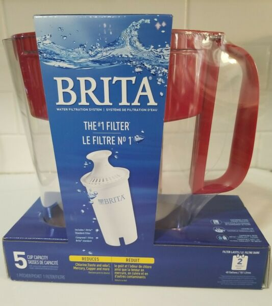 Brita Metro 5 Cup BPA Free Water Filtration Pitcher with 1 Filter