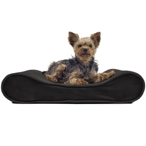 Orthopedic Pet Beds FurHaven Small Espresso Microvelvet LuxeLounger Contoured $35.99