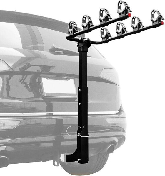 Premium 4 Bike Carrier Rack Hitch Mount Swing Down Bicycle Rack 2quot; Receiver $99.98