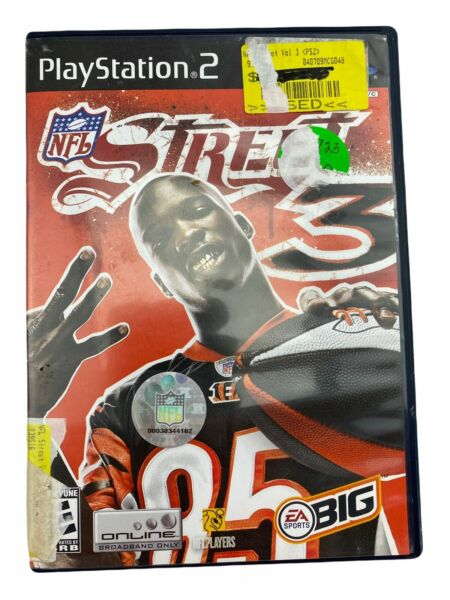 NFL Street 3 PlayStation 2 2006 PS2 Tested Working Great Free Shipping $11.99