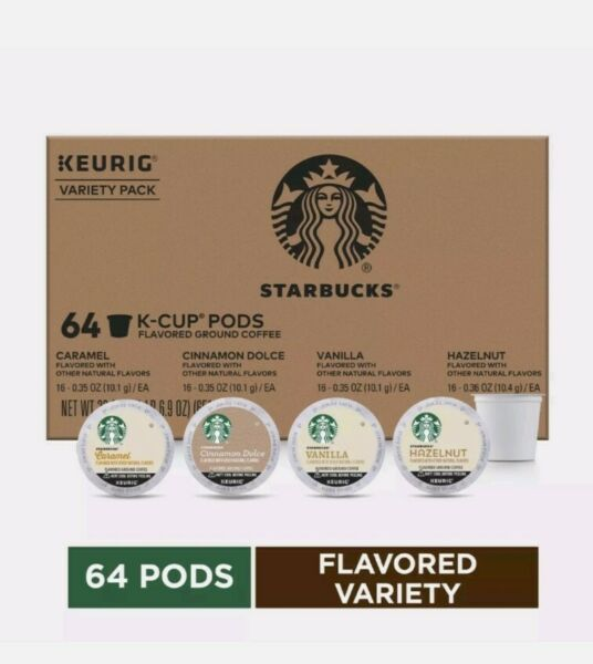 Starbucks K Cups Coffee Pods Variety Pack for Keurig Brewers 64 Pods EXP 12 2020