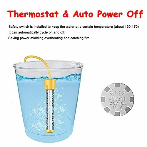 Immersion Water Heater 1500W Portable Bucket Water Heater with Thermostat and $41.12
