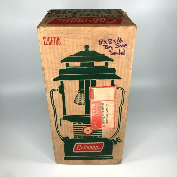 New Unfired In Box Coleman Model 220F195 Double Mantle Lantern Made In USA $249.99