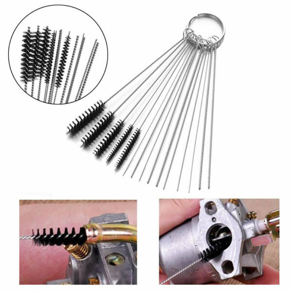 For Motorcycle ATV Lawn Mower Carburetor Carb Cleaning Jet Cleaner Tool Kit Set $19.79