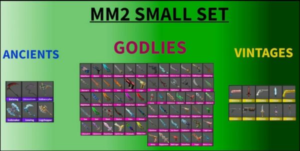 Mm2 Small Set every godly vintageand ancient fast delivery $16.29