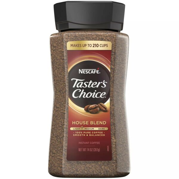 NESCAFE Taster#x27;s Choice House Blend Instant Coffee 14 oz FREE and FAST Shipping $16.39