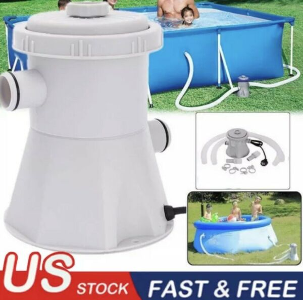 300GAL 110V Electric Filter Pump Set For Swimming Pool Water With Cartridge USA $29.99