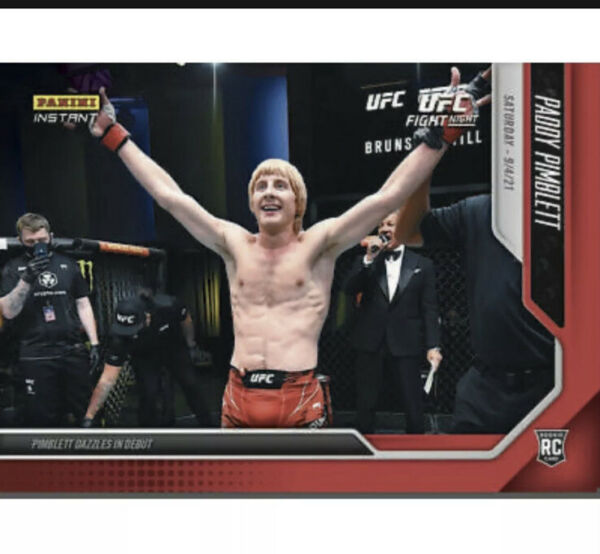 2021 Panini Instant UFC PADDY The Baddy PIMBLETT Rookie Card RC Debut 9708 $19.99