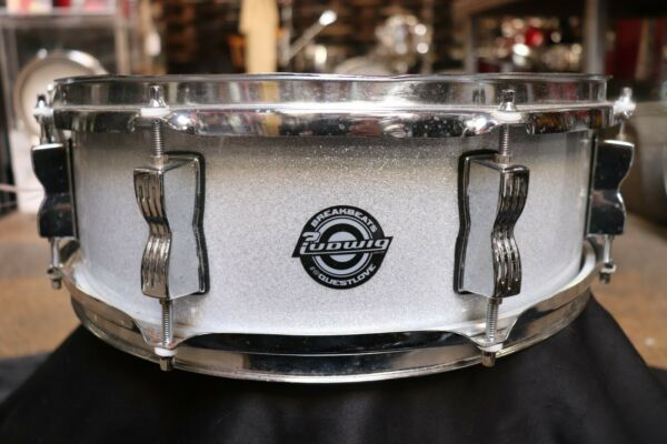 Ludwig 5x14 Breakbeats Snare Drum Silver Sparkle $89.99