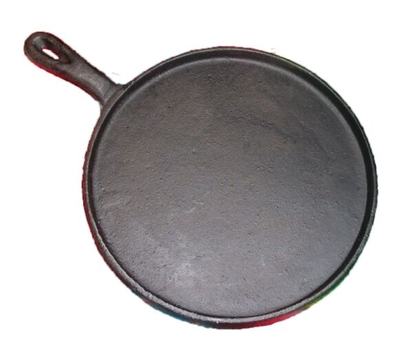 Heavy Duty Tortilla Cast Iron Griddle Round Skillet Comal Flat Pan 8 Inches