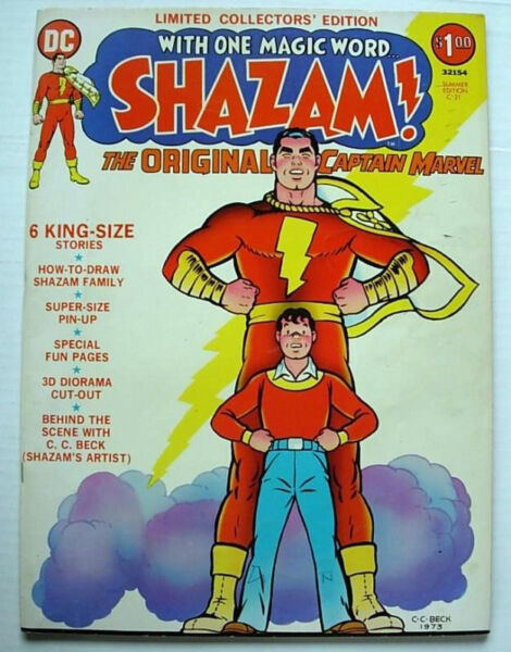 C-21 LIMITED COLLECTORS EDITION DC SHAZAM TREASURY VF OVERSIZE KING SIZED 1973
