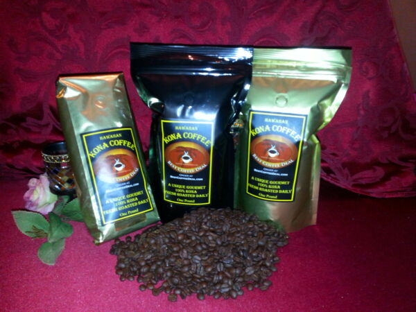 100% Kona Coffee 9 Pounds (9 One lb bags) Shipped Fast!