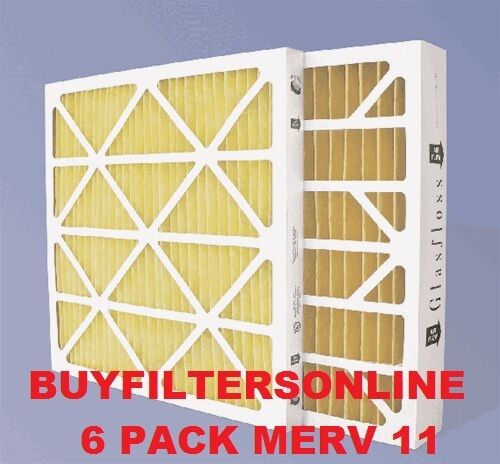 6 PK 20X25X4 16X25X4 20X20X4 MERV 11 HOME FURNACE PLEATED AIR FILTERS GLASFLOSS