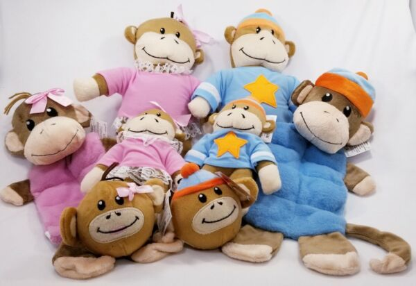 Zanies Monkey Business Friends tiff ty plush squeaker dog toys toy puppy B7  25 $8.79