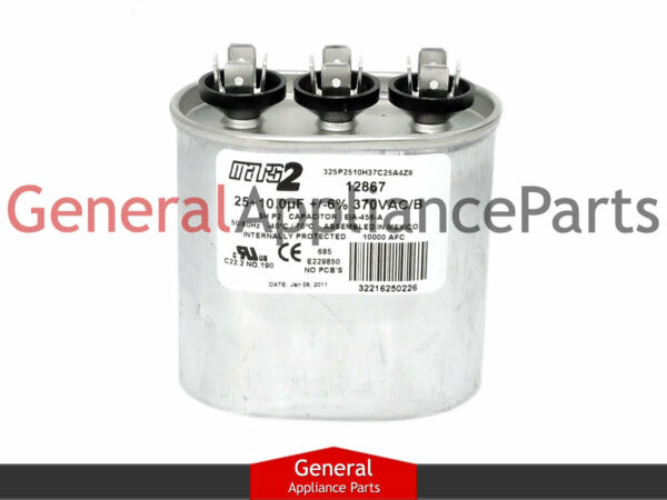 Whirlpool Kenmore Sears Air Conditioner Heat Pump Refrigerator Capacitor 876595