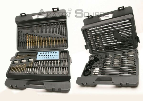 204 Pcs Combination Drill Bit Set Drilling Power Tools Electric Cordless Drills