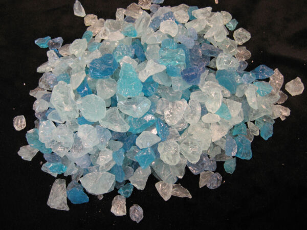 Caribbean Fire glass for your gas fireplace or gas fire pit GL-Light Blue