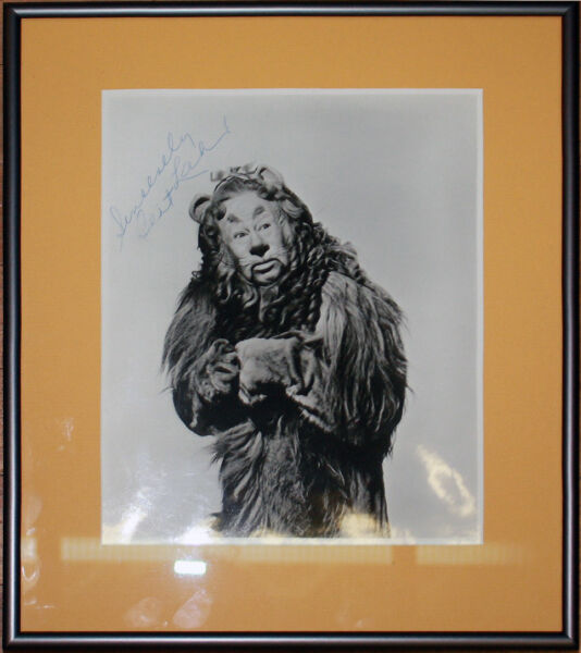 Bert Lahr 8x10 Signed Autographed Photo as the Lion from Wizard of Oz with COA