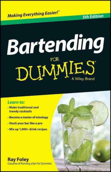 Bartending for Dummies by Ray Foley (English) Paperback Book Free Shipping!