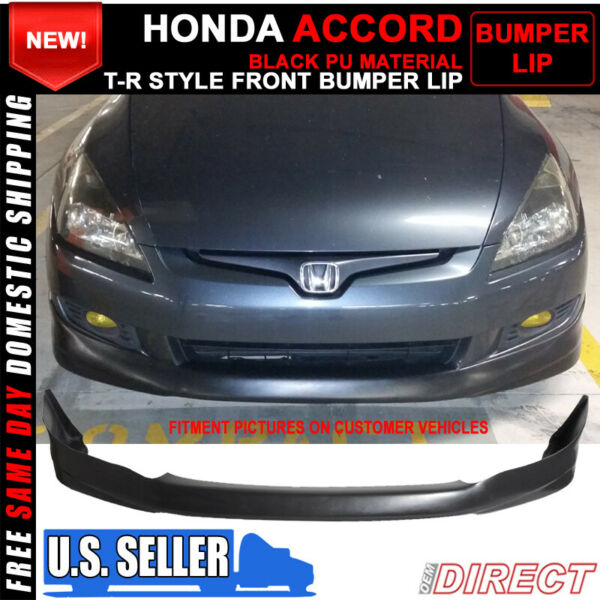 For 03-05 Honda Accord 4Dr HFP Style Front Bumper Lip Spoiler Bodykit PU