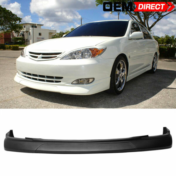 For 02-03 Toyota Camry PU Front Bumper Lip Spoiler Body VIP Style Poly Urethane